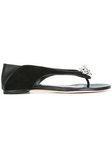 Alexander McQueen king and queen skull sandals - Black