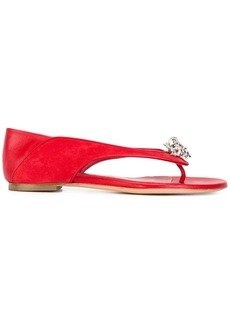 Alexander McQueen king and queen skull sandals - Red