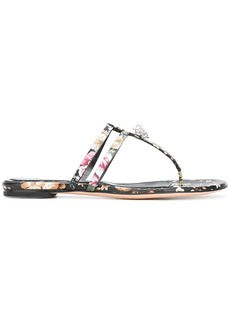 Alexander McQueen king skull thong sandals - Black