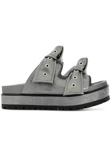 Alexander McQueen knot buckled sandals - Metallic