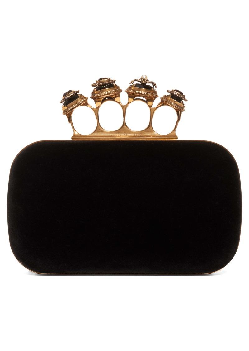 Alexander McQueen Knuckle Box Clutch