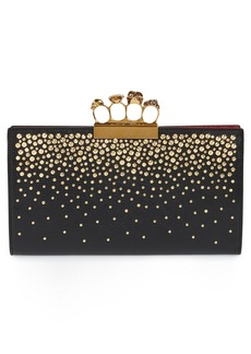 Alexander McQueen Knuckle Crystal Flat Pouch