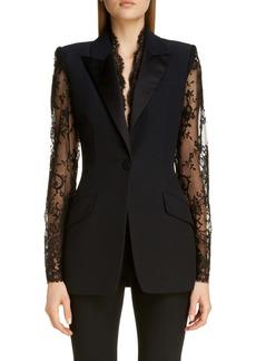 Alexander McQueen Lace Detail Jacket