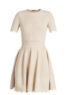 Alexander McQueen Lace-jacquard jersey dress