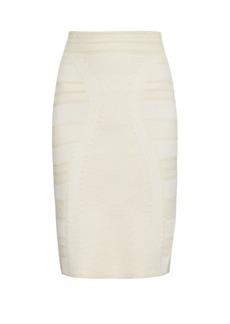 Alexander McQueen Lace-jacquard knit skirt