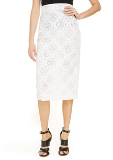 Alexander McQueen Lace Pencil Skirt