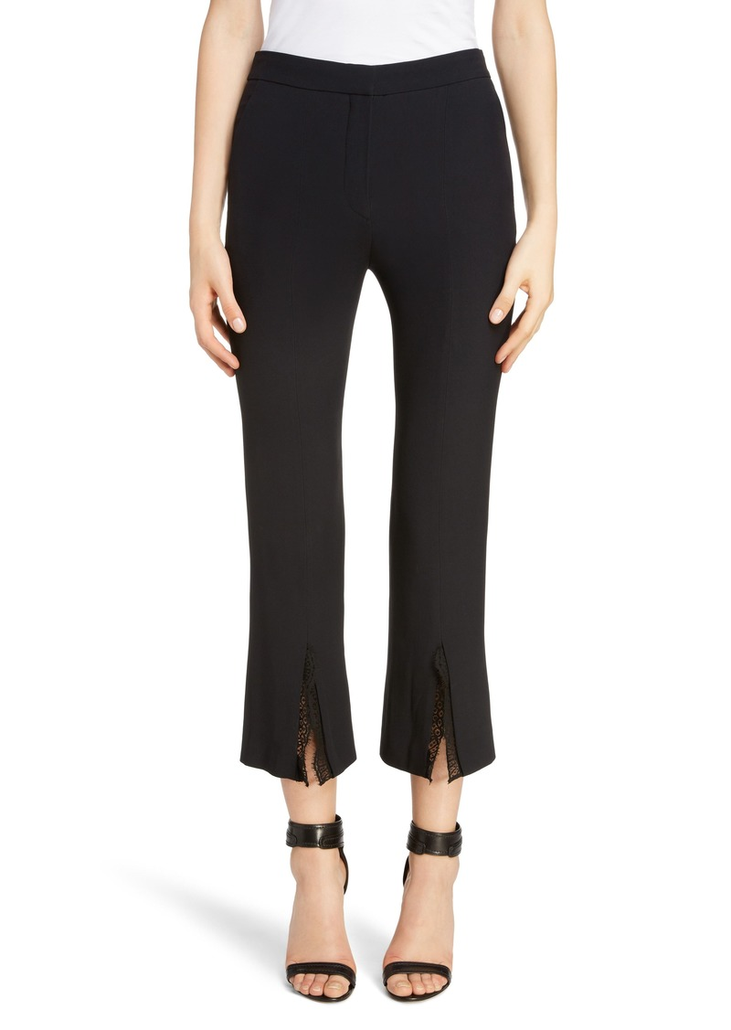 Alexander McQueen Lace Trim Split Hem Pants