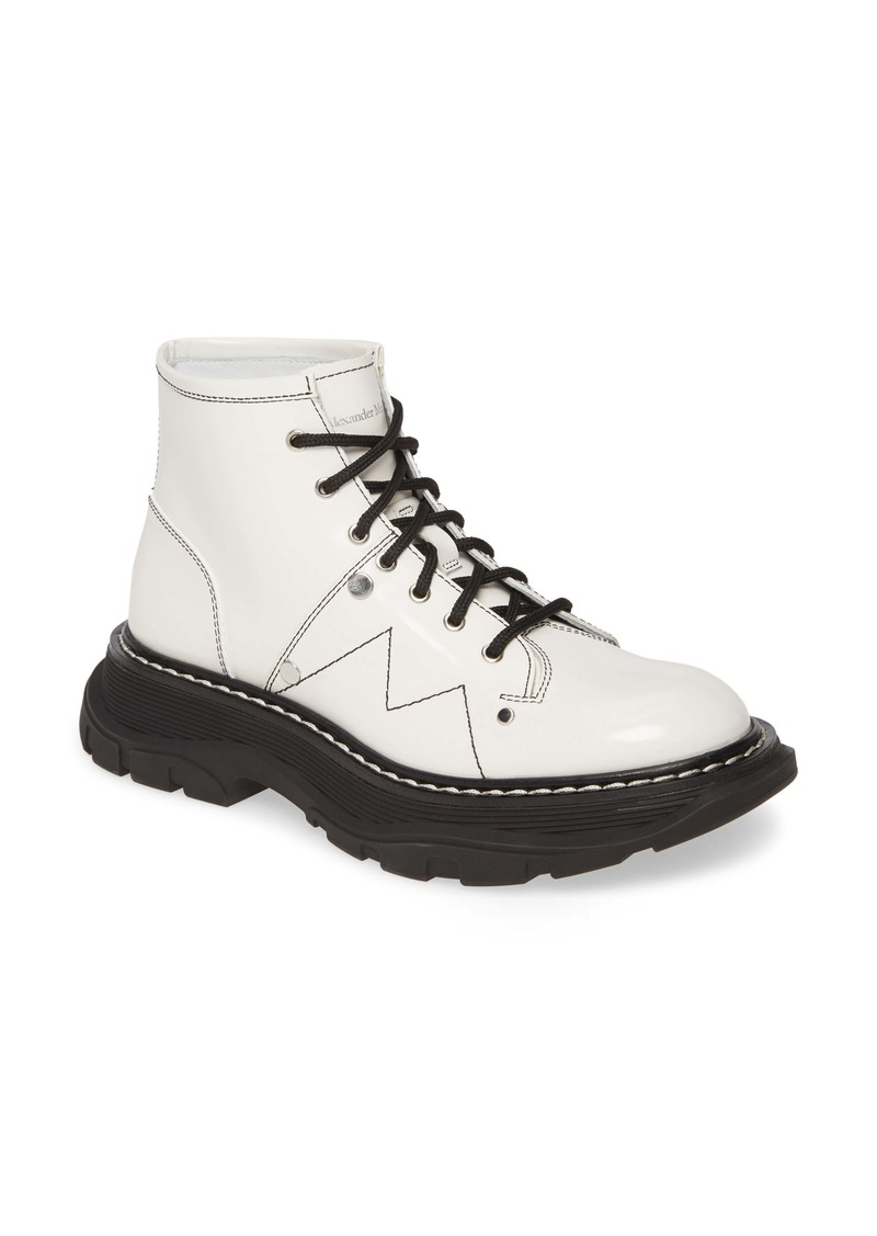 Alexander McQueen Lace-Up Lug Sole Hiker Boot (Women)