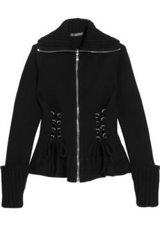 Alexander McQueen Lace-up wool peplum jacket