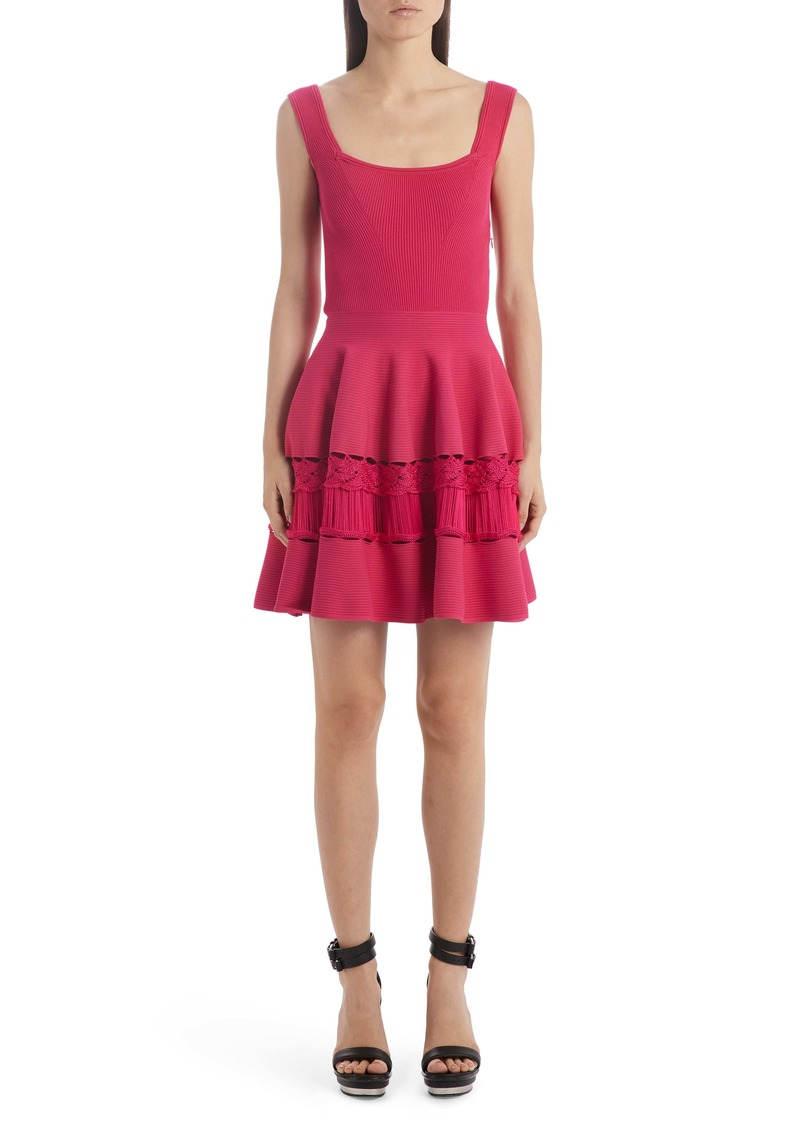 Alexander McQueen Ladder Stitch Panel Sweater Dress