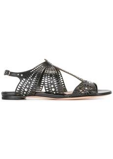 Alexander McQueen laser-cut sandals - Black