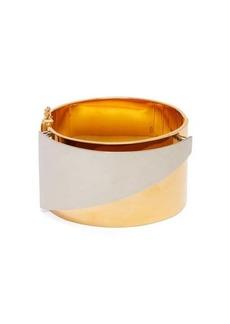 Alexander McQueen Layered brass cuff