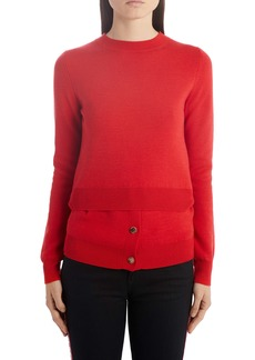 Alexander McQueen Layered Hem Sweater
