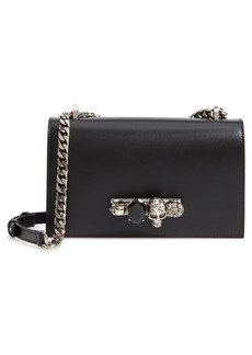 Alexander McQueen Leather Crossbody Knuckle Bag