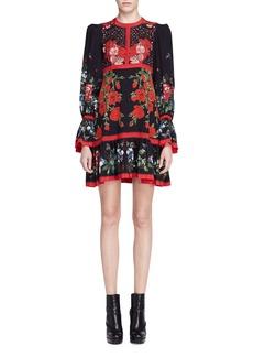 Alexander McQueen Long-Sleeve Tablecloth-Print Dress