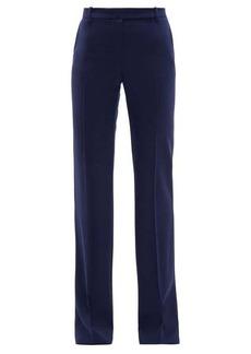 Alexander McQueen Longline flared virgin wool-twill trousers