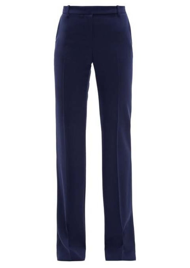 Alexander McQueen Longline flared virgin wool-twill trousers