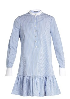 Alexander McQueen Mandarin-collar cotton-poplin shirtdress