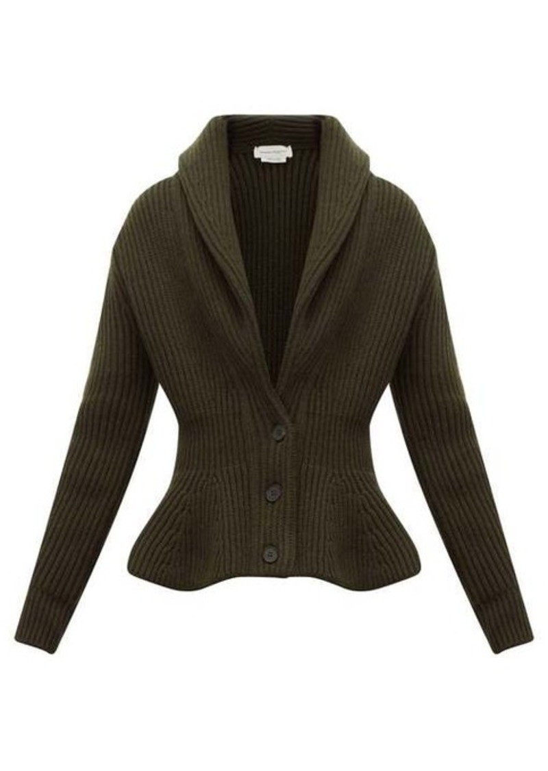 Alexander McQueen McQueen Shawl-collar wool-blend cardigan