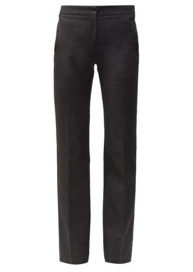 Alexander McQueen Men's Cut straight-leg wool trousers