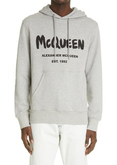 Alexander McQueen Men's Graffiti Logo Hoodie