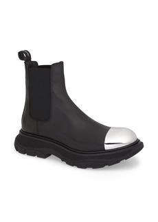 Alexander McQueen Metal Cap Toe Chelsea Boot (Men)