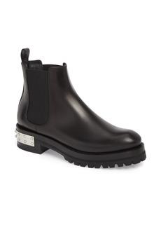 Alexander McQueen Metal Heel Slip-On Boot (Women)