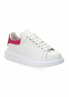 Alexander McQueen Metallic Croc-Embossed Low-Top Sneakers