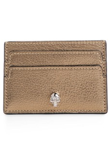 Alexander McQueen Metallic Leather Card Holder