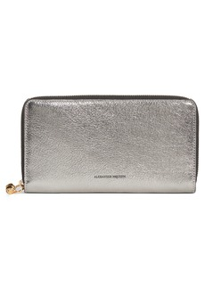 Alexander McQueen Metallic Leather Continental Wallet