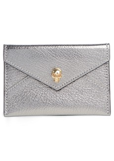 Alexander McQueen Metallic Skull Envelope Card Holder
