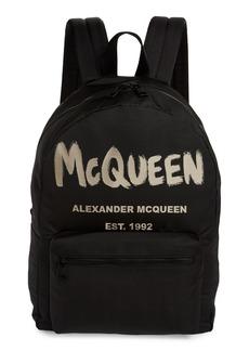 Alexander McQueen Metropolitan McQueen Graffiti Backpack