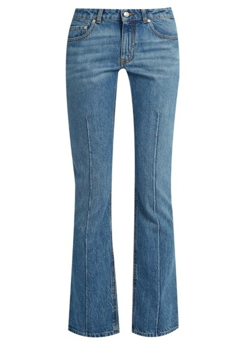 Alexander McQueen Mid-rise flared cropped jeans