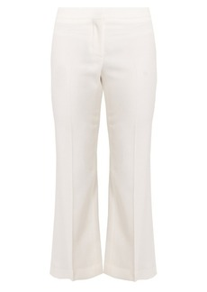 Alexander McQueen Mid-rise kick-flare wool-blend cropped trousers