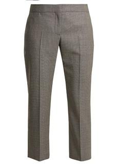 Alexander McQueen Mid-rise slim-leg cropped wool trousers