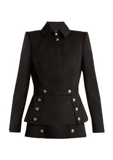 Alexander McQueen Military-button grain de poudre jacket
