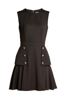 Alexander McQueen Military-button grain de poudre wool mini dress