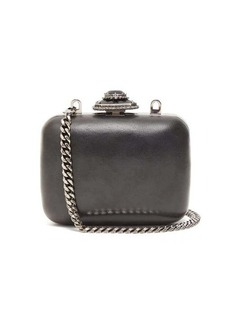 Alexander McQueen Mini crystal-embellished leather clutch bag