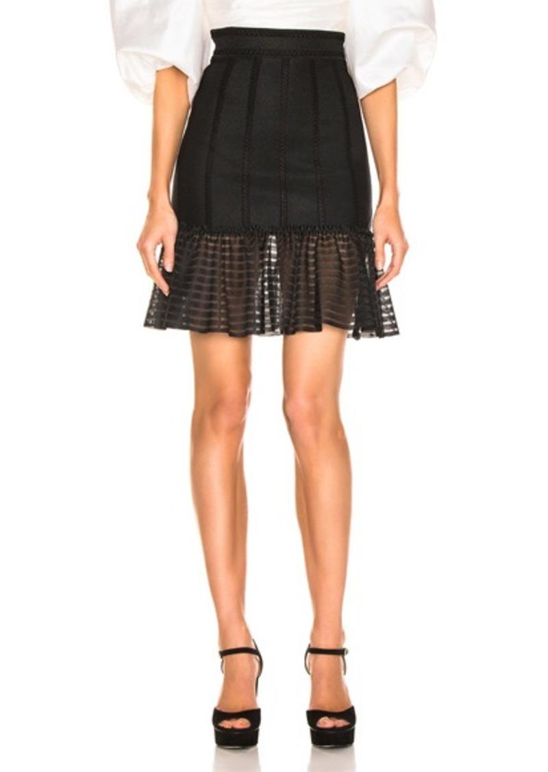 99ed5298f Alexander McQueen Alexander McQueen Mini Flute Skirt   Skirts