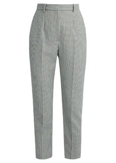 Alexander McQueen Mini hound's-tooth slim-fit trousers