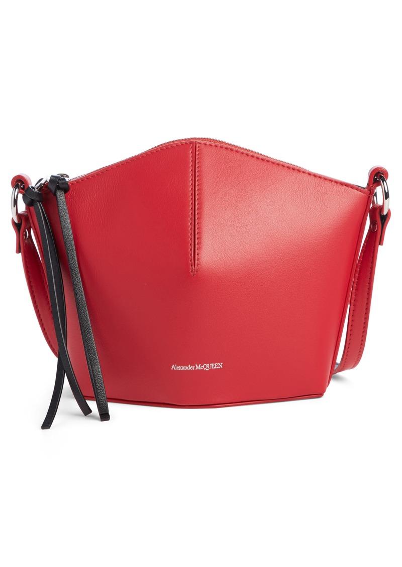 Alexander McQueen Mini Leather Bucket Bag