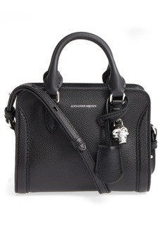 Alexander McQueen Mini Padlock Calfskin Leather Duffel Bag