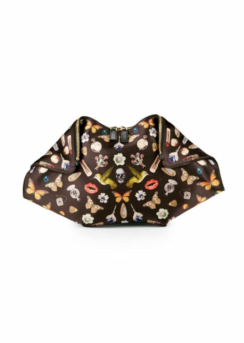alexander mcqueen alexander mcqueen multicolored satin clutch handbags shop it to me. Black Bedroom Furniture Sets. Home Design Ideas