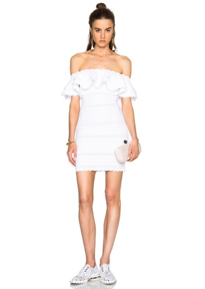 Alexander McQueen Off Shoulder Mini Dress