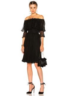 Alexander McQueen Off The Shoulder Puff Sleeve Dress