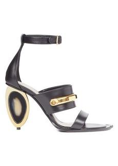 Alexander McQueen Oval-heel leather sandals