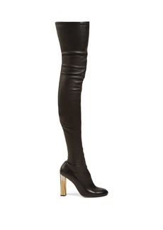 Alexander McQueen Over-the-knee leather boots