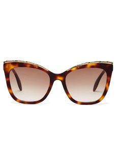 Alexander McQueen Oversized cat-eye acetate sunglasses