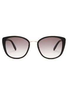Alexander McQueen Oversized cat-eye sunglasses