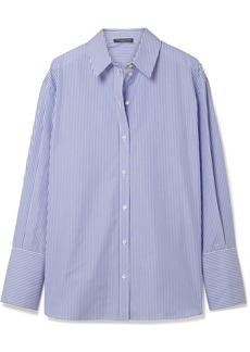 Alexander McQueen Oversized striped cotton-poplin shirt